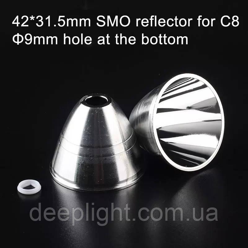 Відбивач рефлектор 42 х 31.5 гладкий C8 7мм отвір