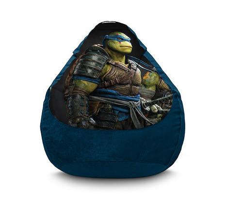 "Кресло мешок ""Ninja Turtles. Leonardo"" Флок, фото 2"