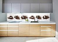 """Скинали на кухню Zatarga """"Кофейные чашки"""" 650х2500 мм белый виниловая 3Д наклейка кухонный фартук для стен,, фото 1"""