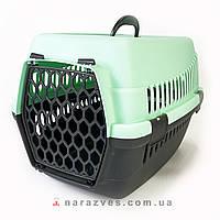 Переноска контейнер для котов и собак Senyayla мятная 49*35*32,5 см