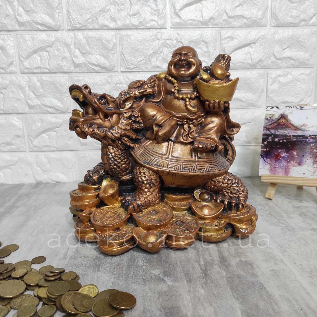 Сувенір-скарбничка Будда на драконі 24 см