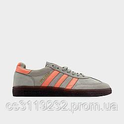 Кроссовки мужские Adida Spezial ASH Orange (серый/оранжевый)