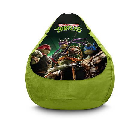 "Кресло мешок ""Ninja Turtles. Modern"" Флок, фото 2"