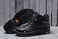 Кроссовки мужские Зимние Меррел Merrell Vibram (мех) черные кроссовки мужские спортивные повседневные Merrell