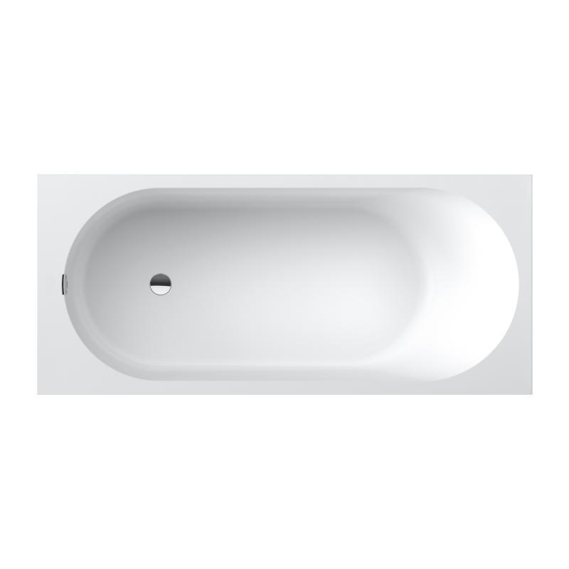 Ванна VILLEROY & BOCH OBERON 2.0 Solo 180x80 см, квариловая с ножками и сливом-переливом