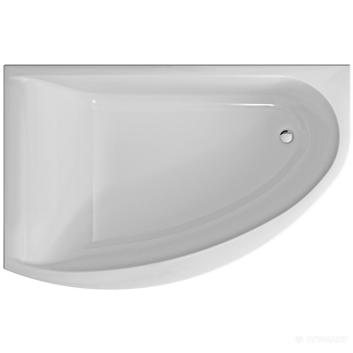 Ванна KOLO MIRRA 170x110 см асиметрична ліва, з ніжками SN8 і елементами кріплення