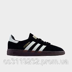 Кроссовки мужские Adida Spezial Black White (черный)