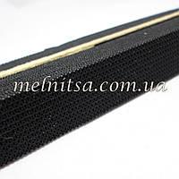 Резинка бельевая, черная, ширина 2см