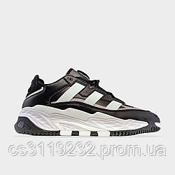 Мужские кроссовки Adidas NiteBall Black  (черные)