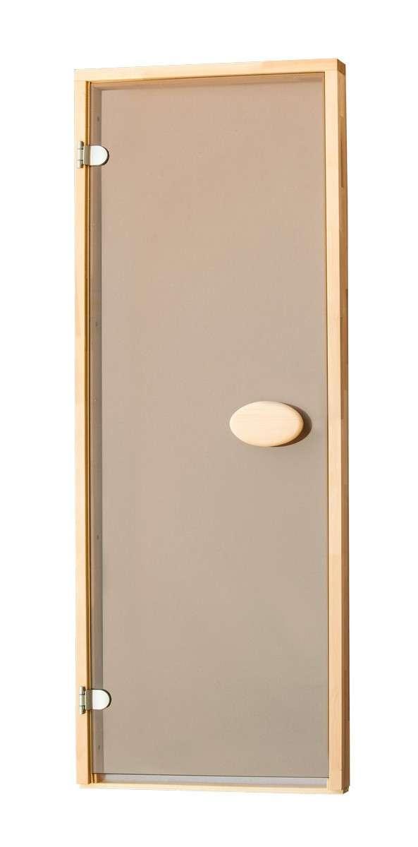 Дверь для бани и сауны ПАЛ 80х200 bronze (матовый)