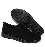 Женские туфли на шнуровке черного цвета