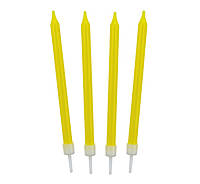 Свічки для торта жовті 8, 6 см