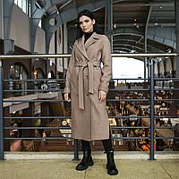 Пальто женское демисезонное полушерстяное бежевое, фото 1