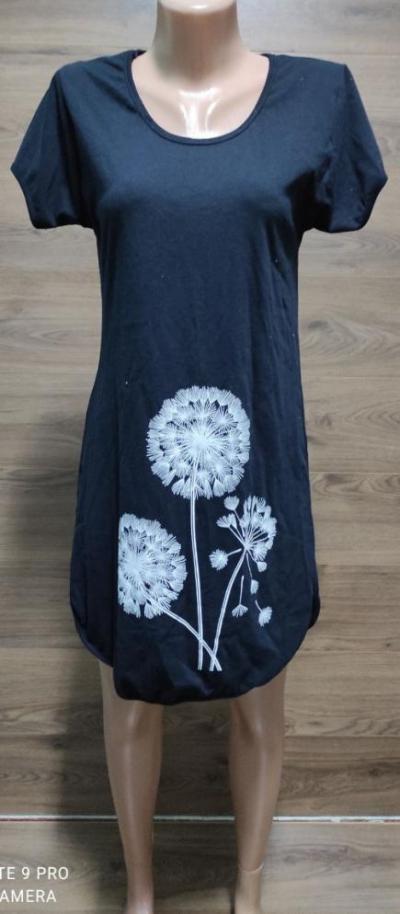 Домашнє плаття-туніка з бавовни великого розміру з принтом кульбаб 44-62 р