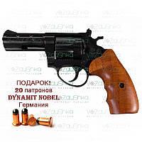 Револьвер me-38 magnum 4r чорний дерев'яна рукоятка