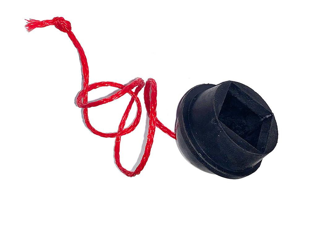 Пенал для бильрдного мела резиновый черного цвета