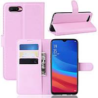 Чехол-книжка Litchie Wallet для Oppo A5s / AX5s Pink
