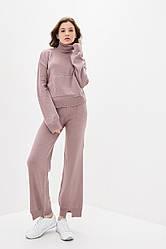 Вязаный костюм в спортивном стиле. Размер 42-44, 46-48. Цвет марсала.