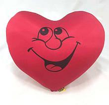 Подушка Сердце валентинка размер 38*35 см, антистрессовая, полистерольные шарики