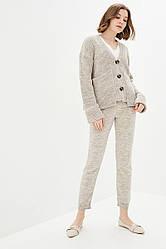 Вязаный костюм из теплой пушистой нитки. Размер 42-44, 46-48. Цвет шампиньон.