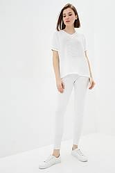 Легкий вязаный костюм из хлопковой пряжи. Цвет белый. Размер 42-44, 46-48. 50% хлопок/ 50% акрил