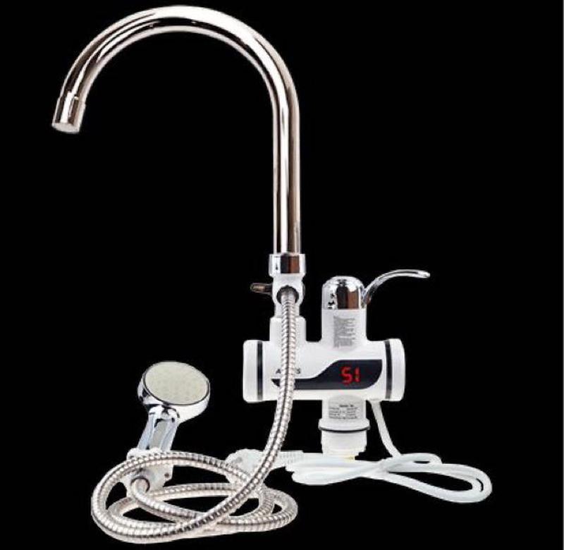 Мгновенный проточный электрический кран водонагреватель Delimano Делимано с душем