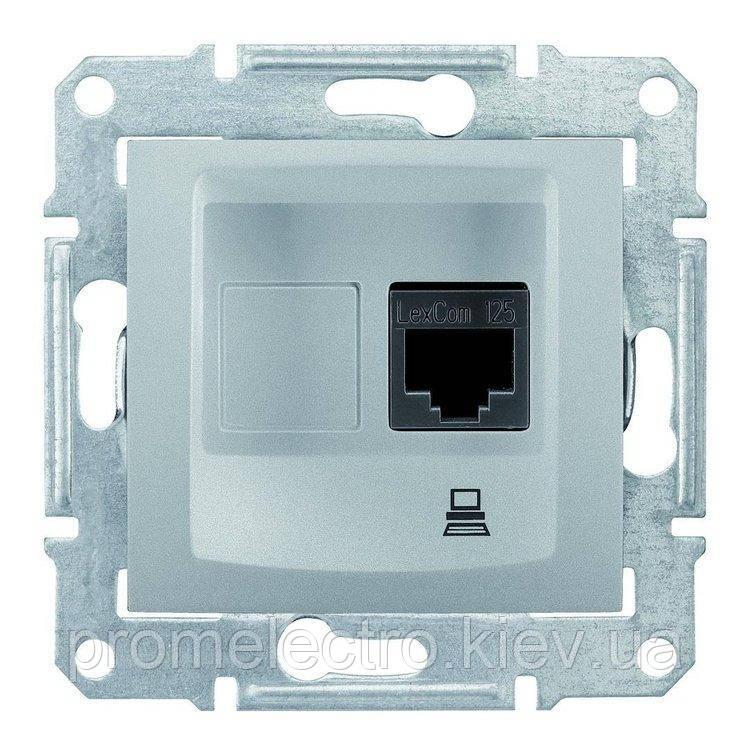 Розетка Schneider-Electric Sedna комп'ютерна UTP кат. 5е алюміній (SDN4300160)