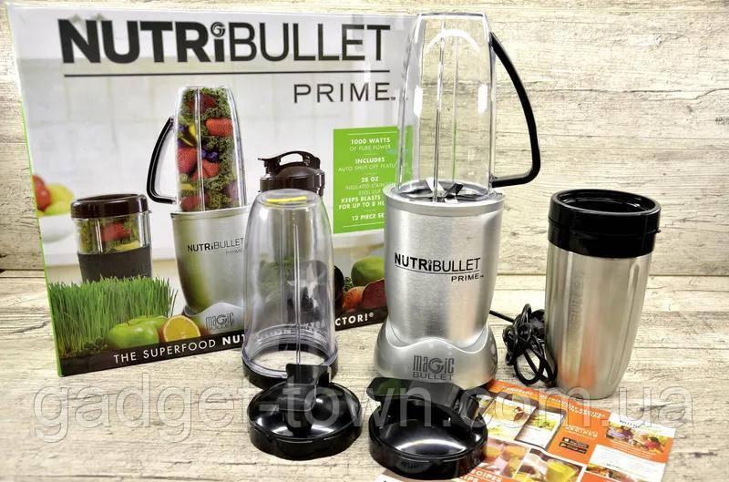 Блендер высокоскоростной NutriBullet Prime (12-предметов) 1000W