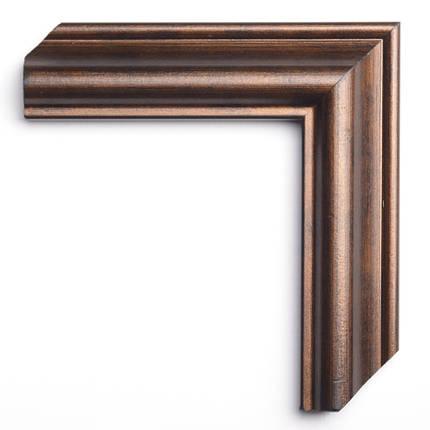 Настенное зеркало БЦ Стол Ронда прямоугольное B03 коричневое, фото 2