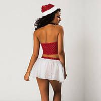 Новогодний секси костюм Снегурочки S/M