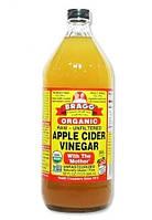 Bragg, Органічний продукт, Яблучний оцет з первинною обробкою, Нефільтрований, 946 мл