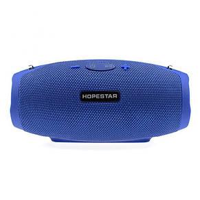 Портативная Bluetooth колонка Hopestar H26 mini, синяя, фото 2
