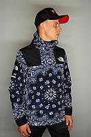 Мужская ветровка Supreme The North Face bandana black куртка суприм тнф tnf, фото 1