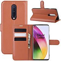 Чехол-книжка Litchie Wallet для OnePlus 8 Brown