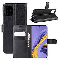 Чехол-книжка Litchie Wallet для Samsung Galaxy A51 A515 Black