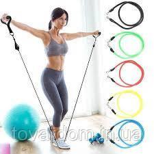 Набор трубчатых эспандеров для фитнеса и упражнений