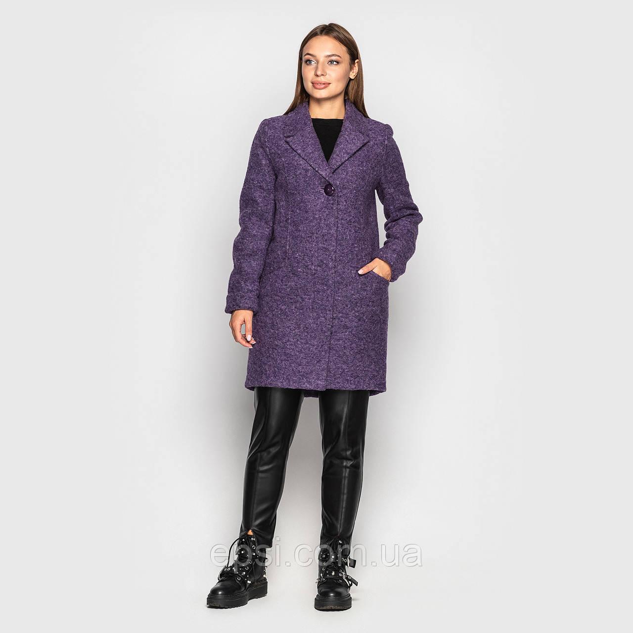 Пальто женское шерстяное Sappo  Роксана фиолетовый 40
