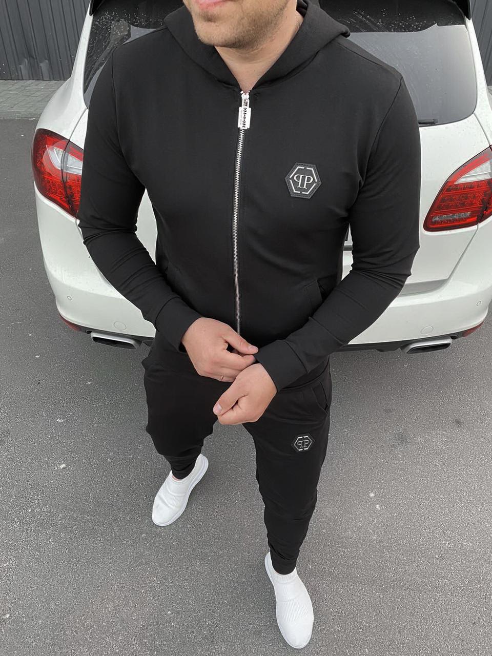 Мужской черный спортивный костюм Philipp Plein
