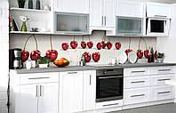 Скинали на кухню Zatarga «Черешневые разговоры» 650х2500 мм виниловая 3Д наклейка кухонный фартук, фото 1