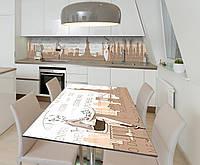 Наклейка 3Д виниловая на стол Zatarga «Топ-модель» 600х1200 мм для домов, квартир, столов, кофейн, кафе