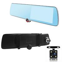 Автомобильный видеорегистратор зеркало Terra 1030 TAXI, три камеры