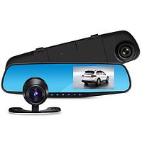 Автомобильный видеорегистратор зеркало Terra 9002 две камеры