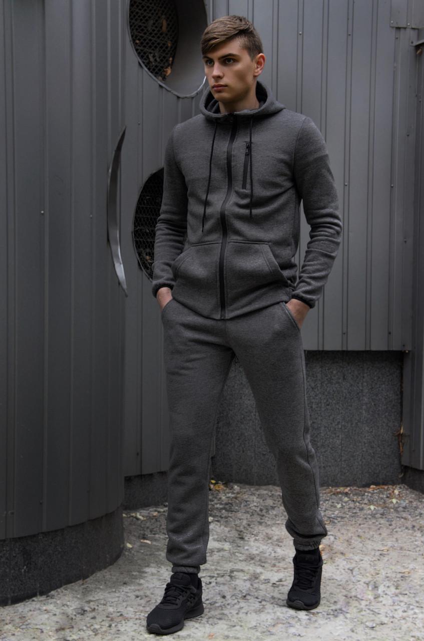 Чоловічий спортивний костюм сірий