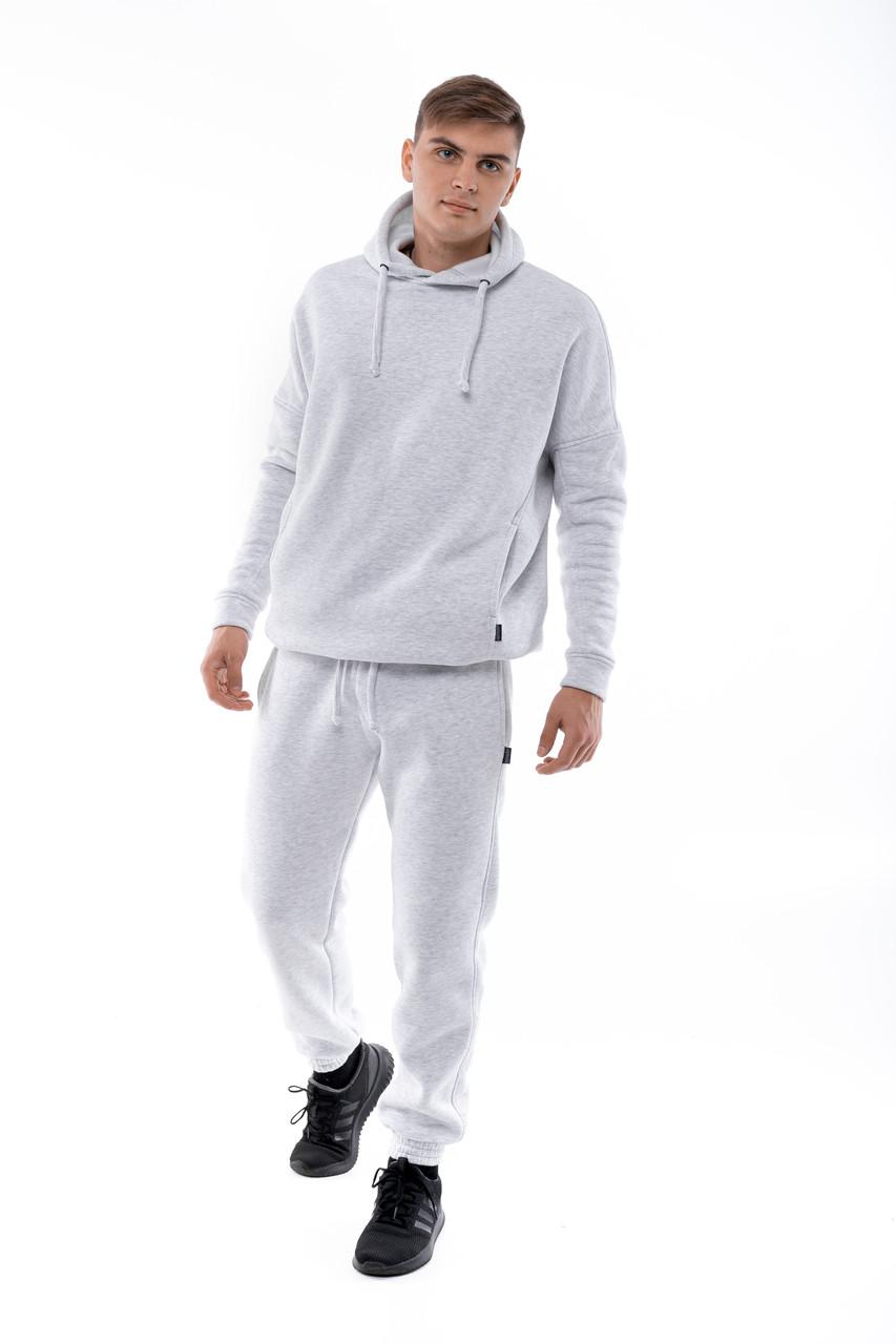 Чоловічий сірий спортивний костюм Оверсайз