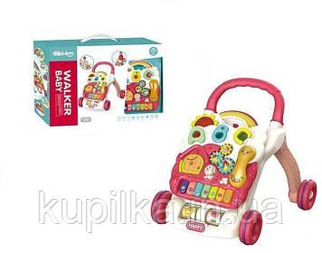 Детские ходунки-каталка со съемной музыкальной панелью, световыми эффектами для малышей 698-61