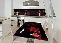 Наклейка 3Д виниловая на стол Zatarga «Танец страсти» 600х1200 мм для домов, квартир, столов, кофейн, кафе