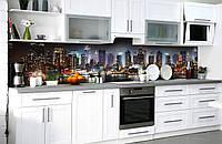 Скинали на кухню Zatarga «Огни Сан-Франциско» 600х2500 мм виниловая 3Д наклейка кухонный фартук самоклеящаяся, фото 1