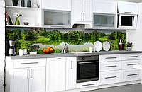 Скинали на кухню Zatarga «Тихие заводи» 600х3000 мм виниловая 3Д наклейка кухонный фартук самоклеящаяся, фото 1