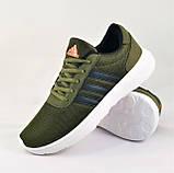 Кроссовки Adidas Мужские Зеленые Хаки Адидас BOOST (размеры: 41,42,43,44,45) Видео Обзор, фото 2