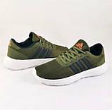 Кроссовки Adidas Мужские Зеленые Хаки Адидас BOOST (размеры: 41,42,43,44,45) Видео Обзор, фото 3